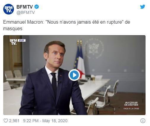 Masques : Macron Méta Menteur