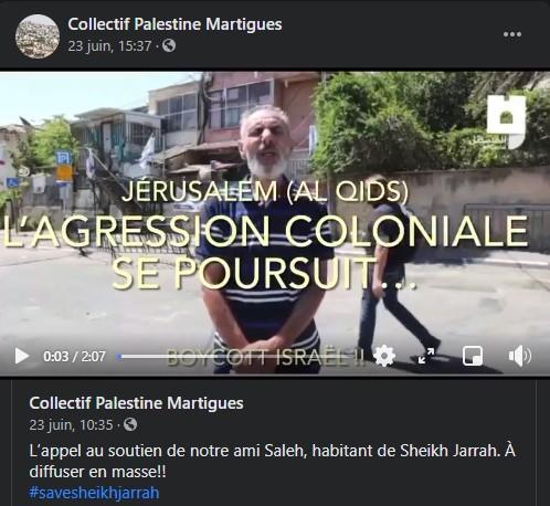 Appel au secours de Jérusalem